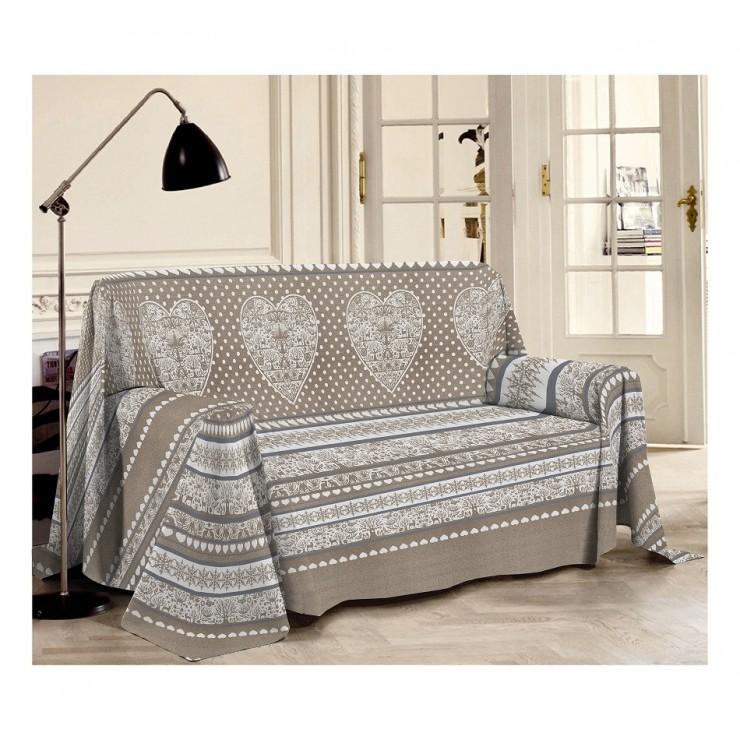 Prikrývka na gauč Tirol béžová