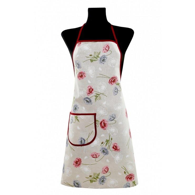 Kitchen apron 914 powder poppies