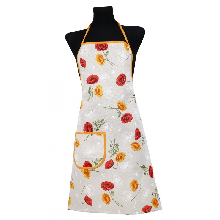 Kitchen apron 914 orange poppy