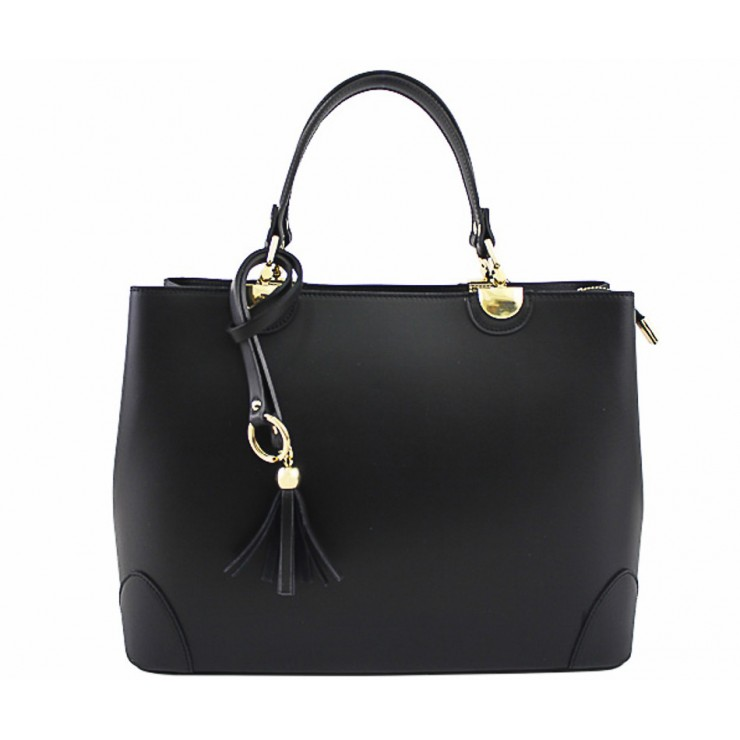 Genuine Leather Handbag 7 black