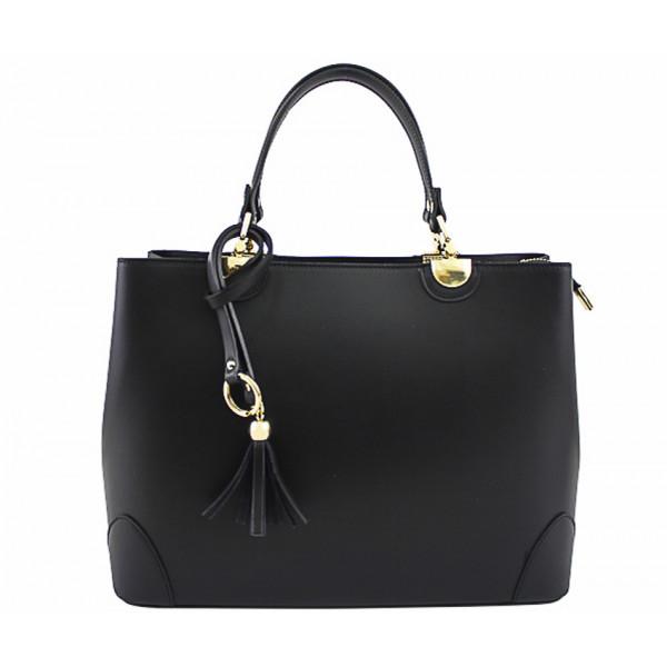 Kožená kabelka 7 čierna