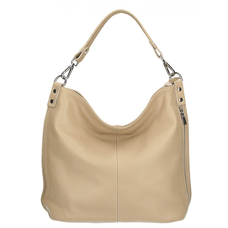 Leather shoulder bag 981 Made in Italy taupe