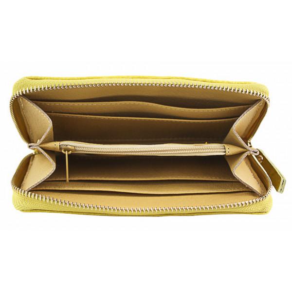 Kožená peňaženka 382 čierna Made in Italy Čierna