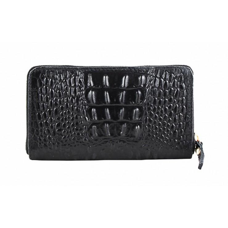 Kožená peňaženka 382 čierna Made in Italy