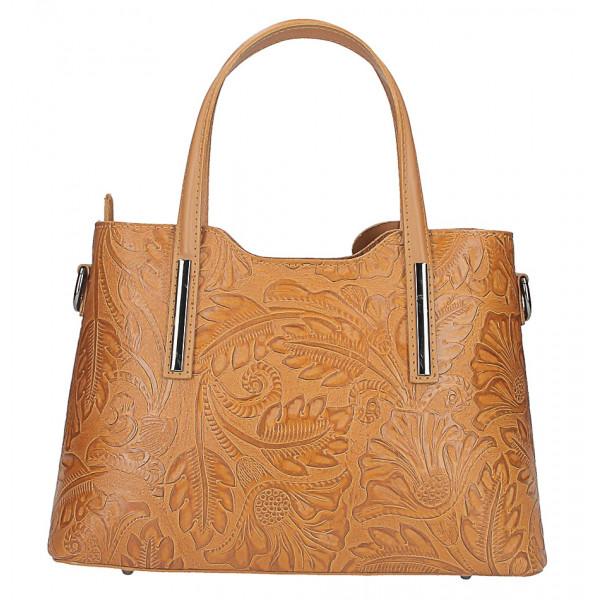 Koňaková kožená kabelka 1493