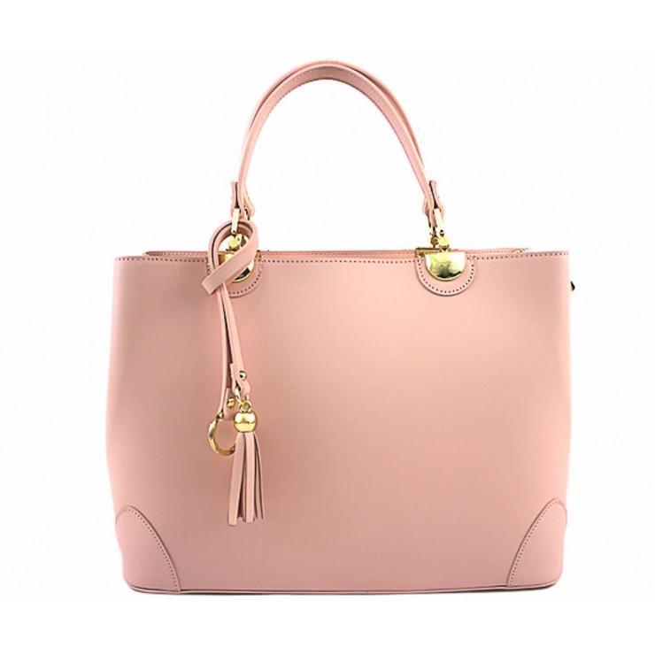 Kožená kabelka 7 ružová