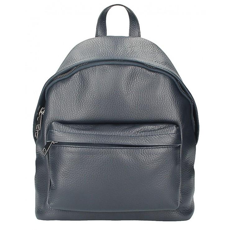 Kožený batoh MI360 modrý Made in Italy