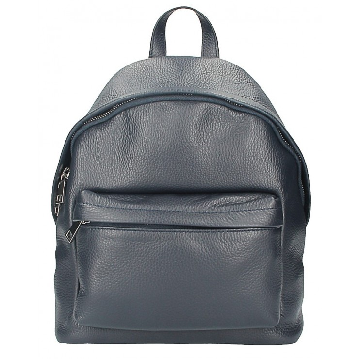 Leather backpack MI360 blue Made in Italy