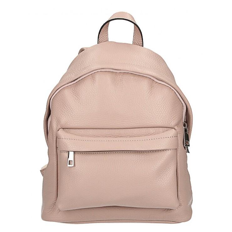 Kožený batoh MI360 pudrový ružový Made in Italy