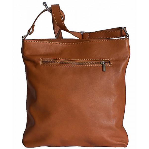 Pánska kožená taška na rameno 119 čierna Made in Italy Čierna