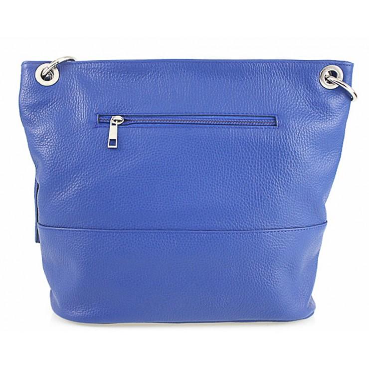 Talianska kožená kabelka na rameno 396 fialová MADE IN ITALY