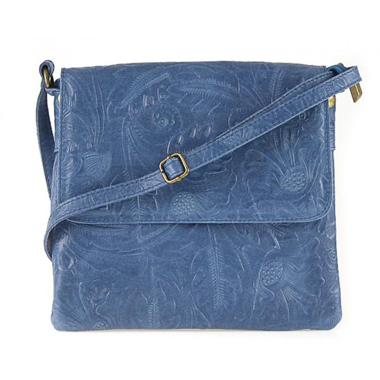 Kožená kabelka na rameno 656 jeans Made in Italy
