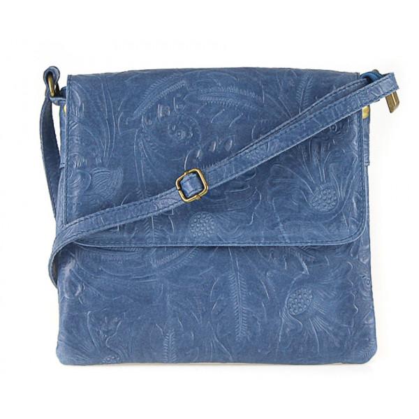 Kožená kabelka na rameno 656 jeans Made in Italy Jeans