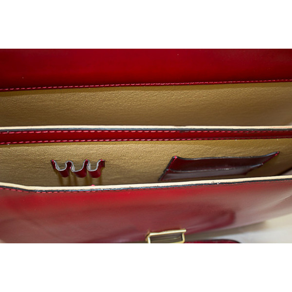 Pánska kožená aktovka 1202 koňaková Made in Italy Koňak