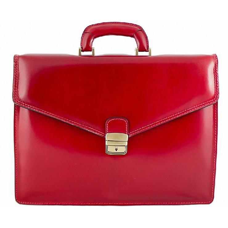 Pánska kožená aktovka 1202 červená Made in Italy