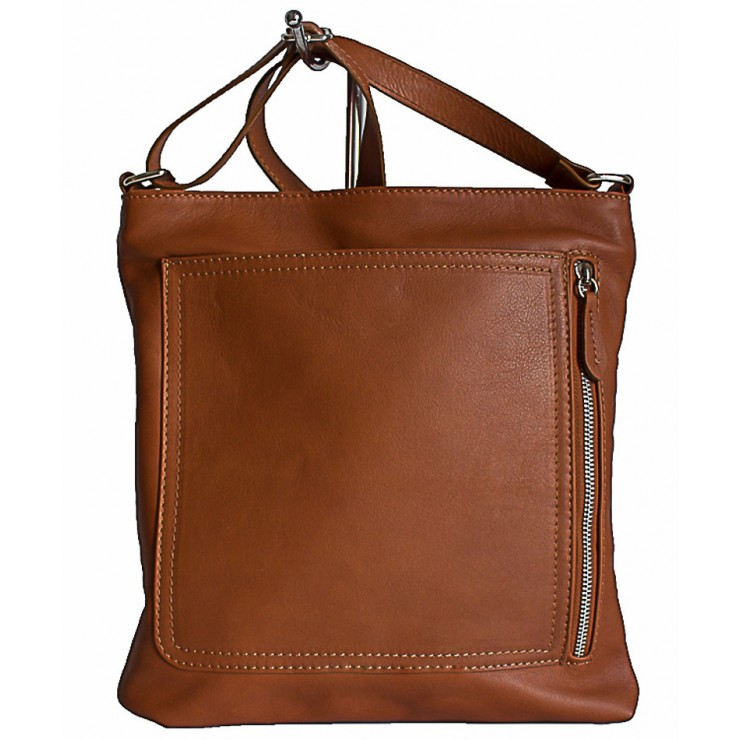 Pánská kožená taška na rameno 119 koňaková Made in Italy
