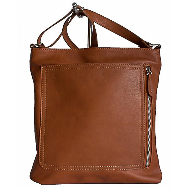Pánska kožená taška na rameno 119 koňaková Made in Italy Koňak