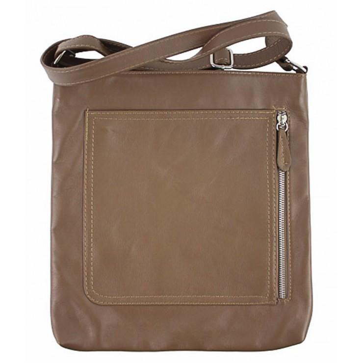 Pánska kožená taška na rameno 119 šedohnedá Made in Italy