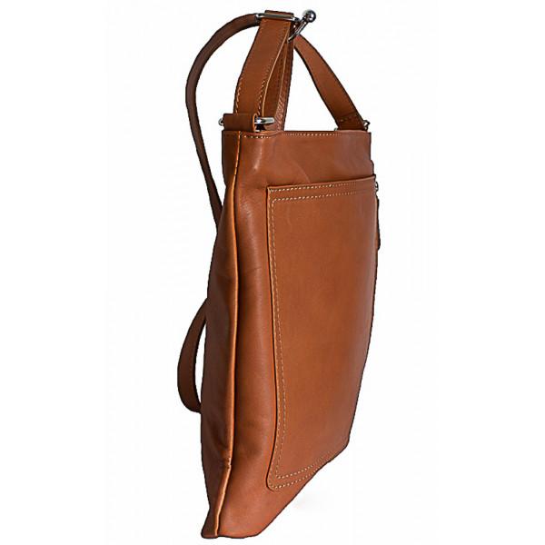 Pánska kožená taška na rameno 119 tmavohnedá Made in Italy Hnedá
