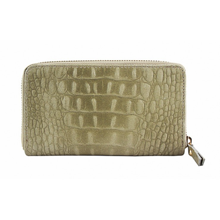 Woman genuine leather wallet 382 beige Made in Italy