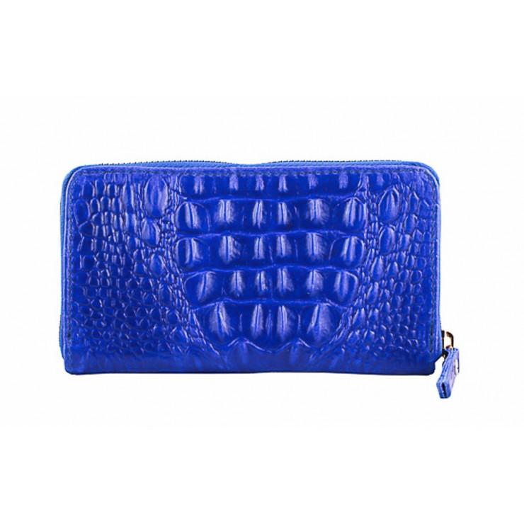 Kožená peněženka 382 azurovo modrá Made in Italy