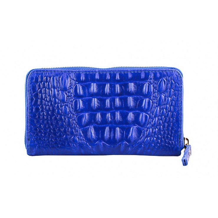 Woman genuine leather wallet 382 bluette Made in Italy
