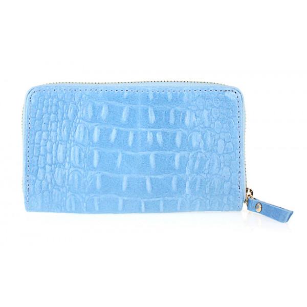 Kožená peňaženka 382 nebesky modrá Made in Italy Nebesky modrá