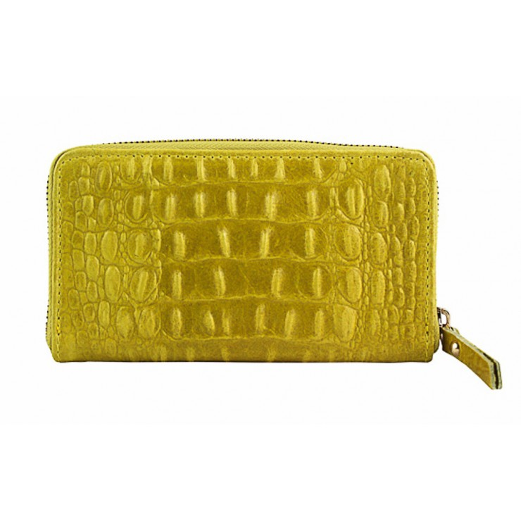 Woman genuine leather wallet 382 yellow Made in Italy