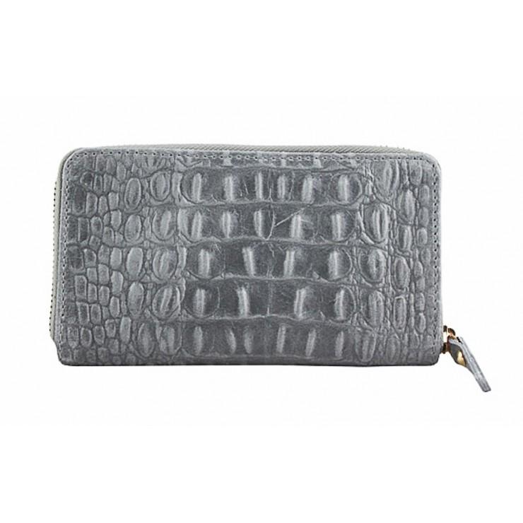Kožená peňaženka 382 šedá Made in Italy