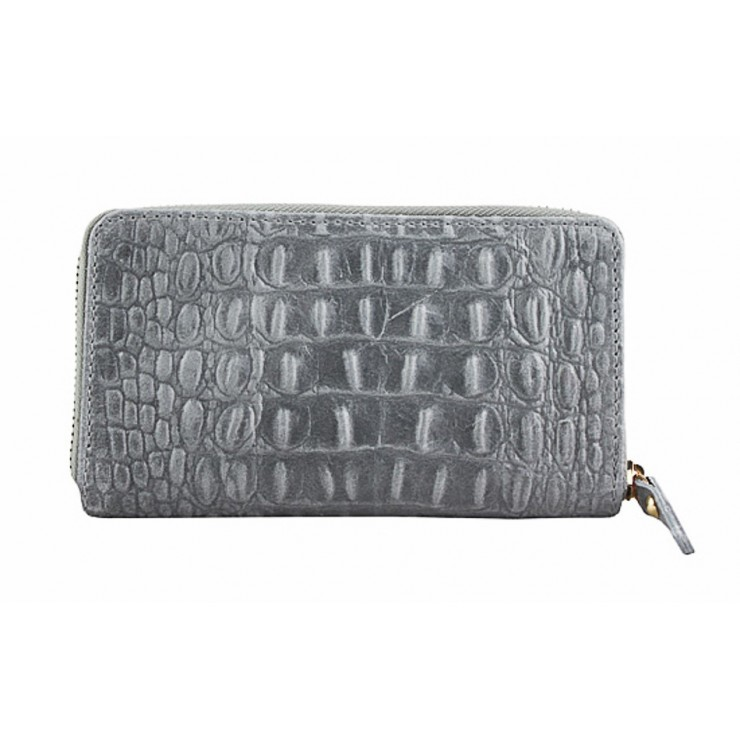 Woman genuine leather wallet 382 gray Made in Italy