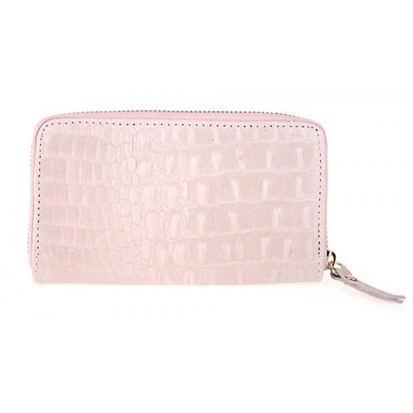 Kožená peňaženka 382 ružová Made in Italy Ružová