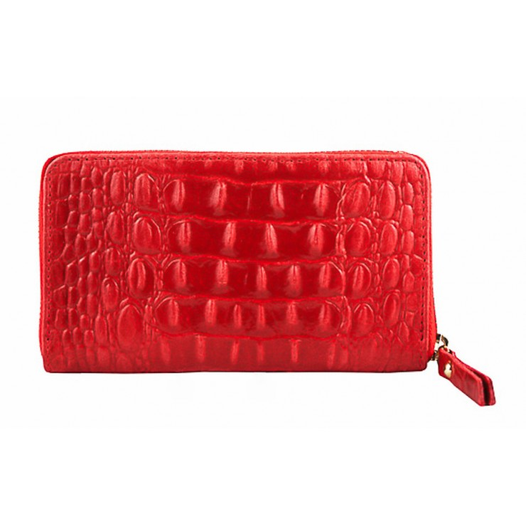 Woman genuine leather wallet 382 red Made in Italy