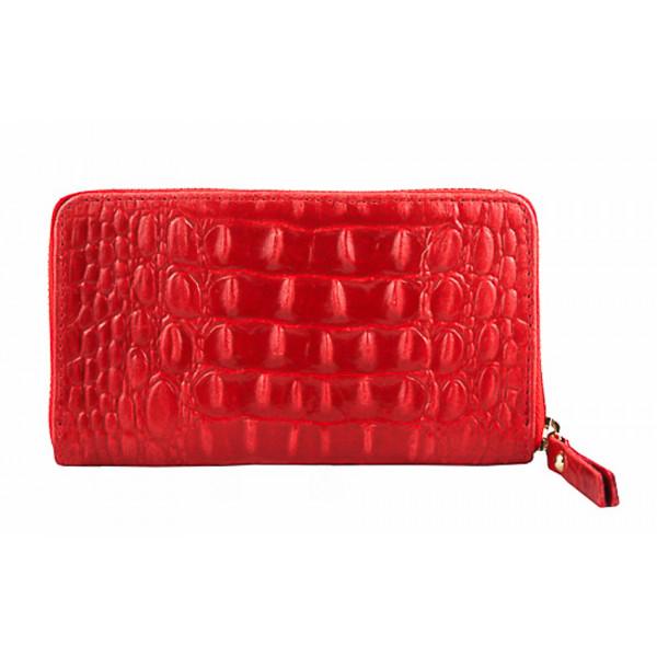 Kožená peňaženka 382 červená Made in Italy Červená
