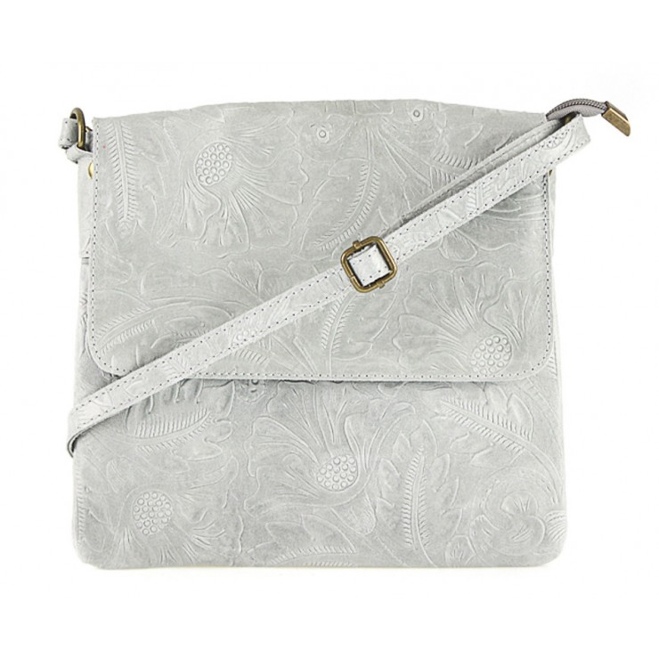 Genuine Leather Shoulder Bag 656 gray