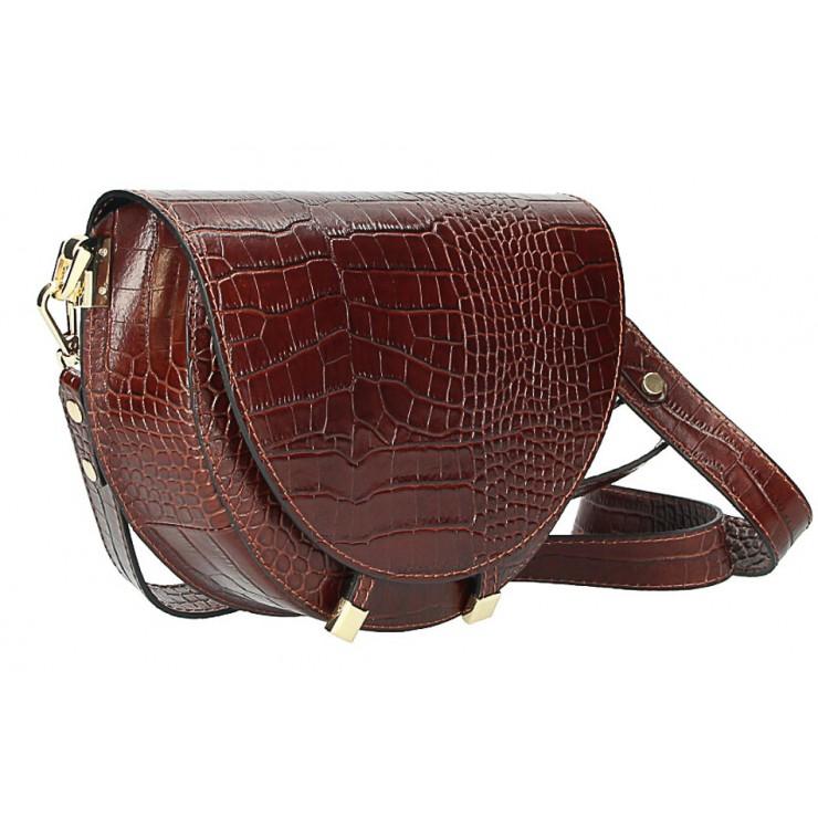Kožená kabelka na rameno 1400 hnedá Made in Italy