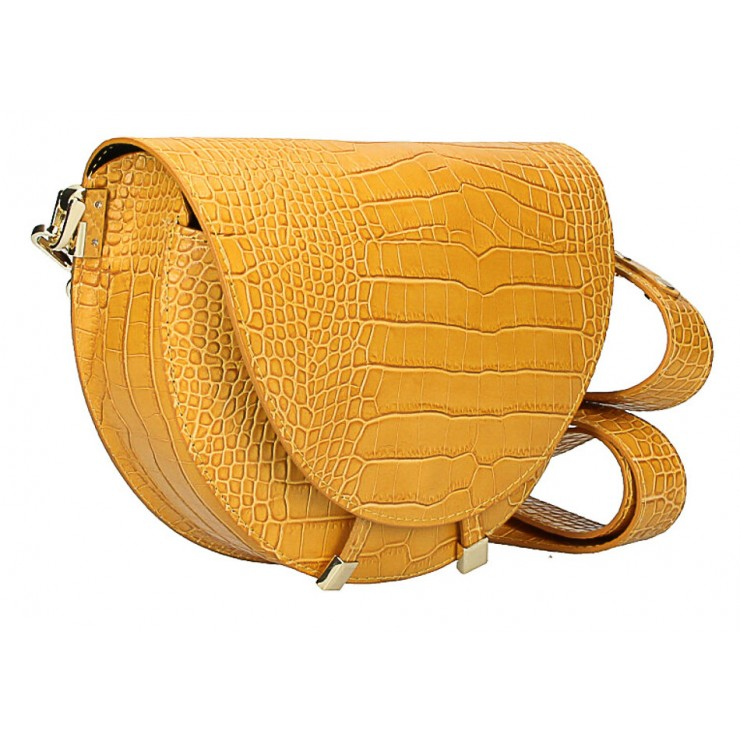 Kožená kabelka na rameno 1400 okrová Made in Italy