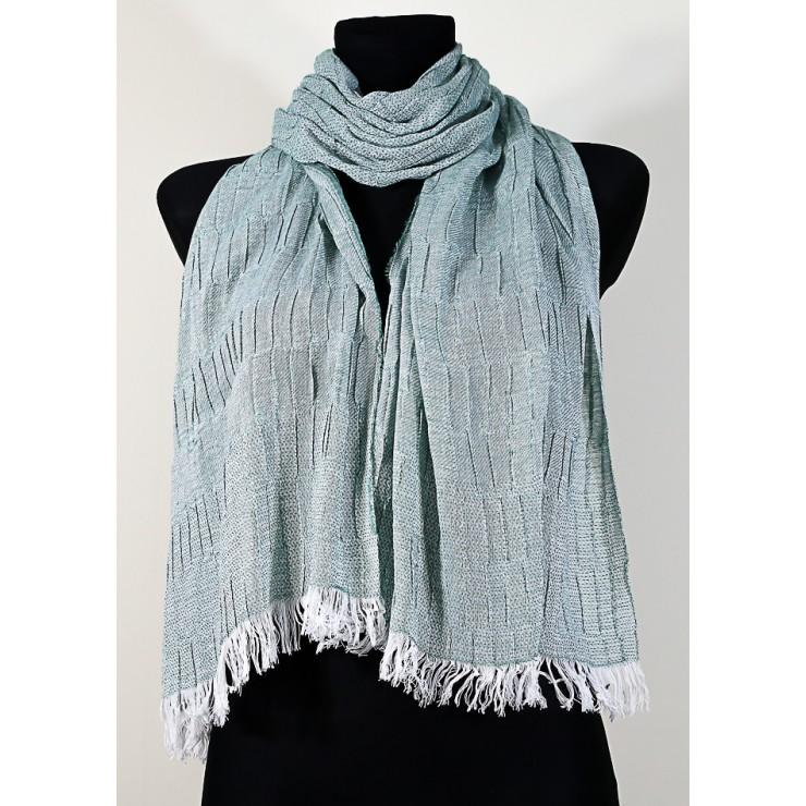 Women's foulard 1015 green Made in Italy