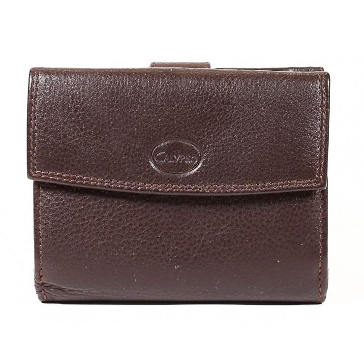 Dámska kožená peňaženka 586 hnedá