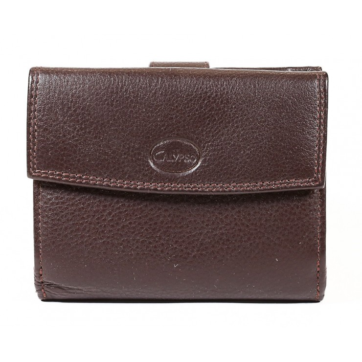 Woman genuine leather wallet 586 brown