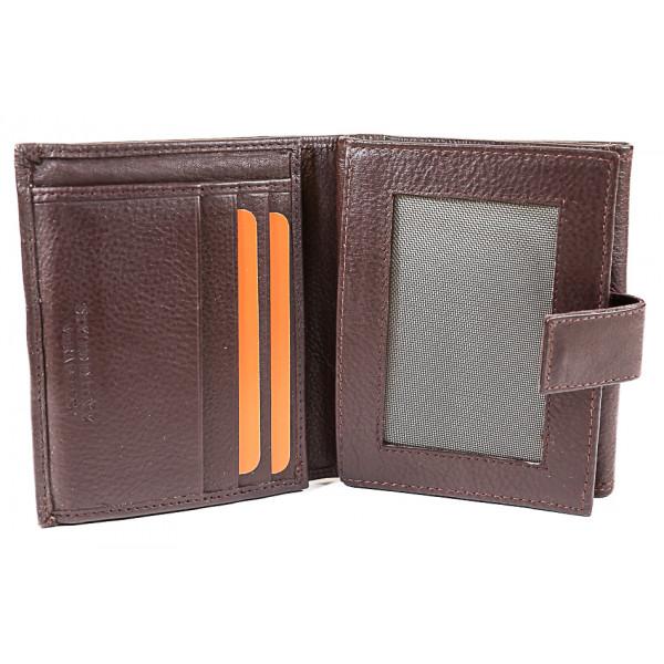Dámska kožená peňaženka 586 hnedá Hnedá