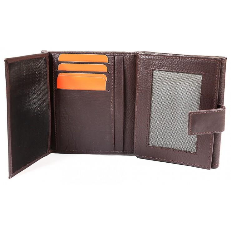 Pánska kožená peňaženka ROUTE 66 čierna