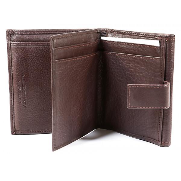 Dámska kožená peňaženka 586 čierna Čierna