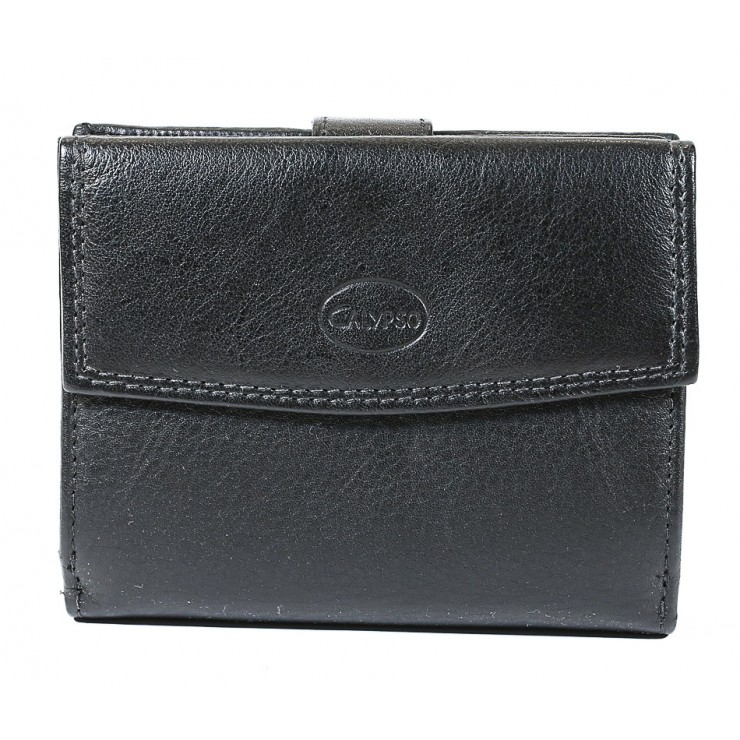 Woman genuine leather wallet 586 black