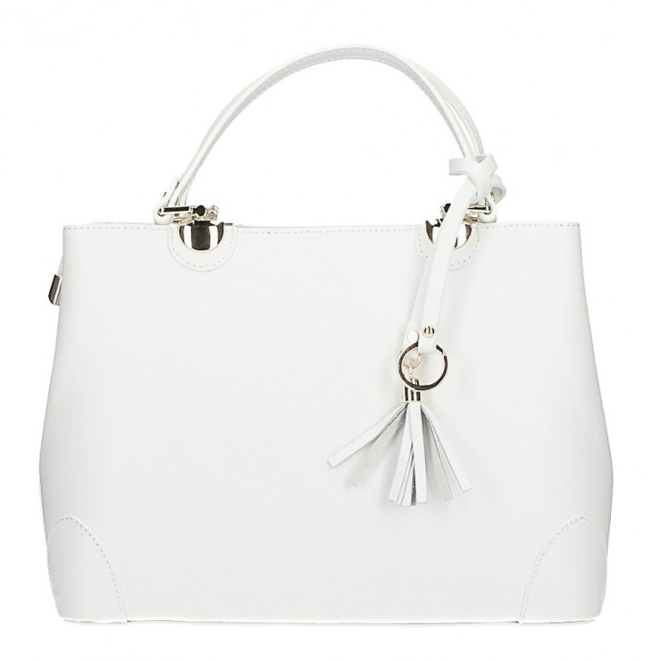 Genuine Leather Handbag MI7 white