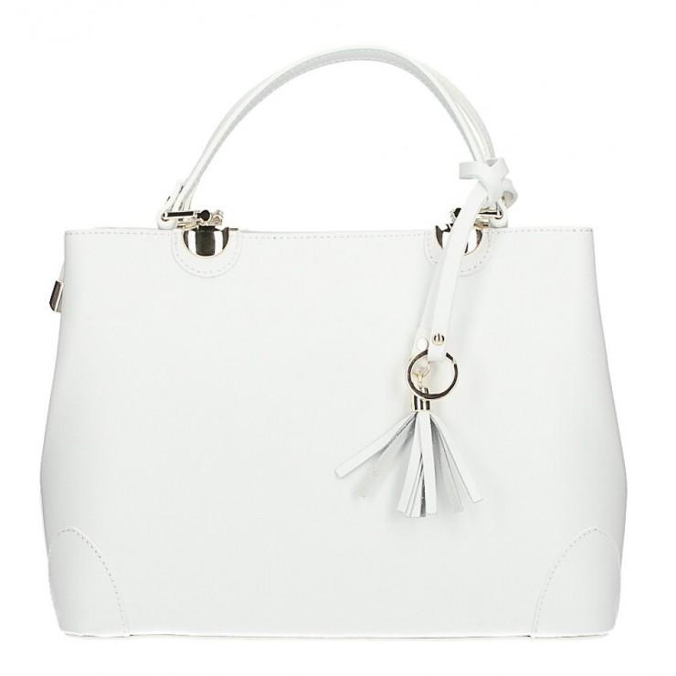 Kožená kabelka MI7 biela