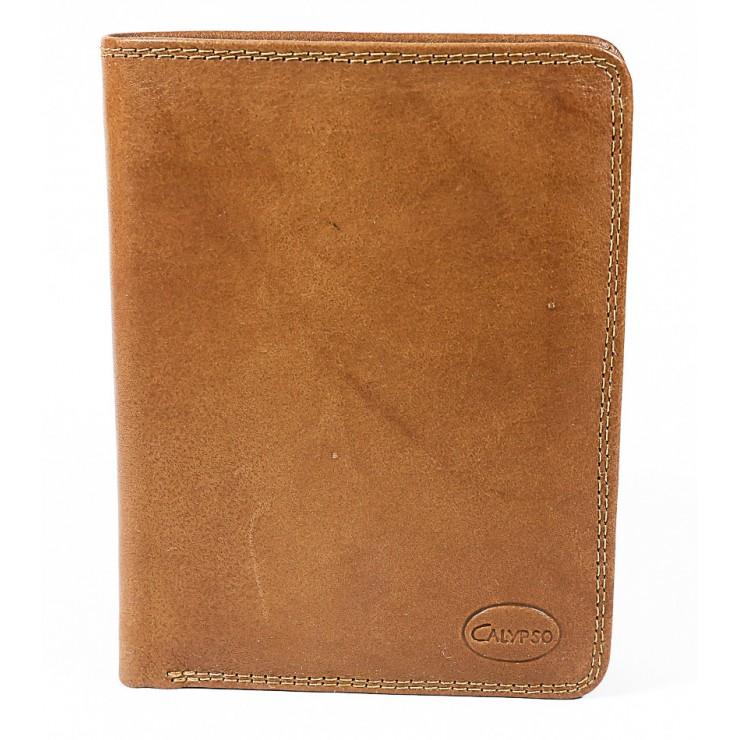 Genuine leather wallet 1125 cognac Calypso