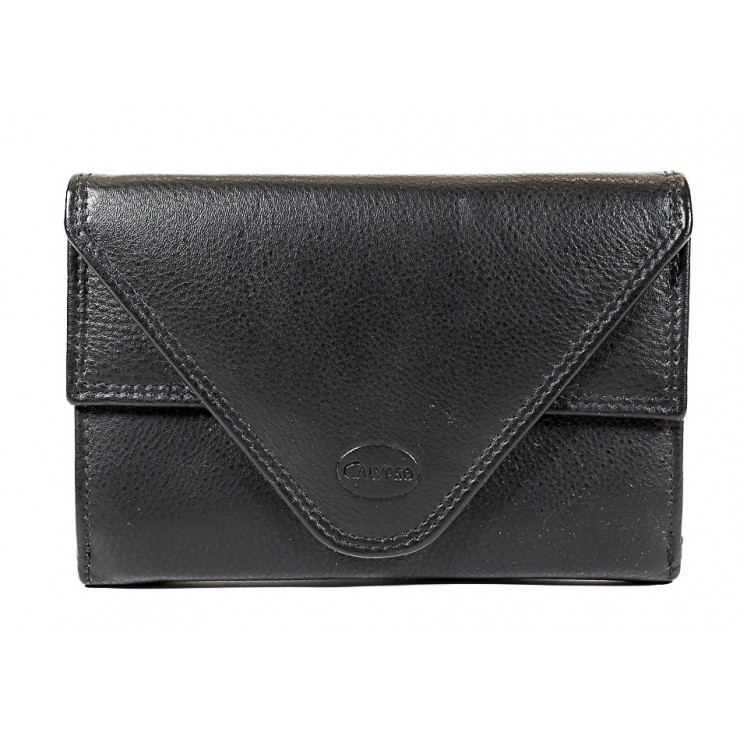Genuine leather wallet 1124 black Calypso