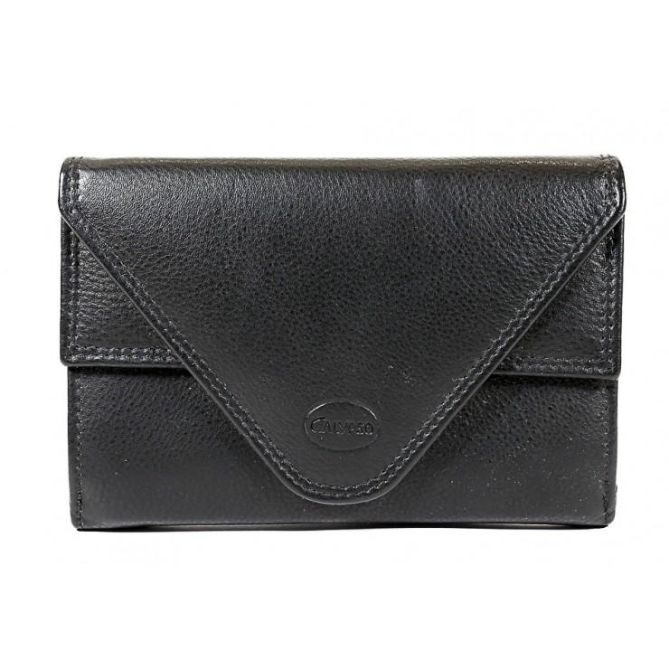 Kožená peňaženka 1124 čierna Calypso