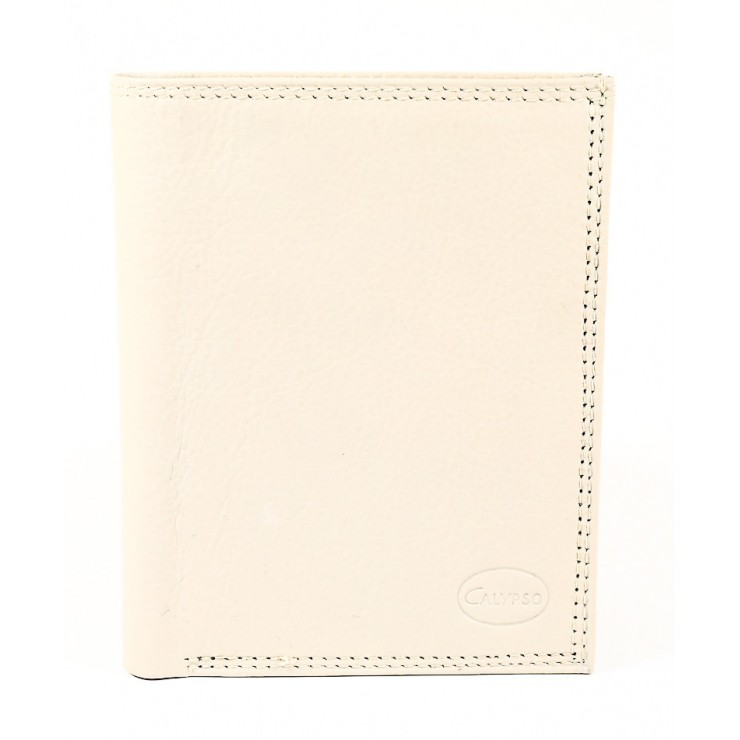 Genuine leather wallet 1128 beige Calypso