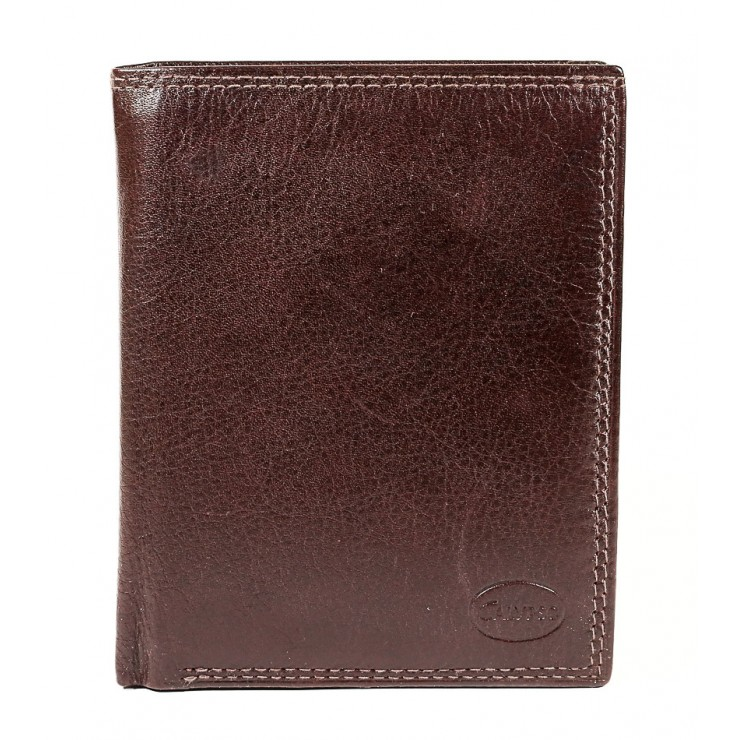 Genuine leather wallet 1128 dark brown Calypso